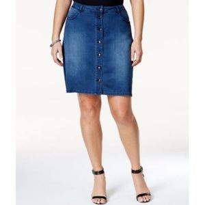 Nanette Lepore Denim Skirt 22W New